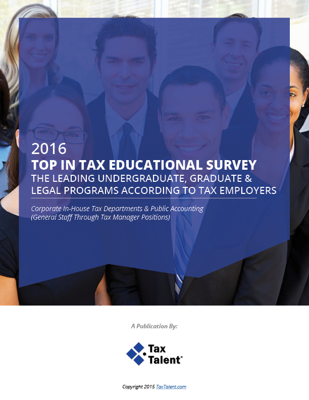 2016 Top In Tax Educational Survey